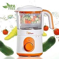 Oursson BL1050HT/OR Cuiseur, Vapeur et Mixeur pour Bébé, Fonction Chauffage, sans BPA, 0.5 Litres, 500 Watts