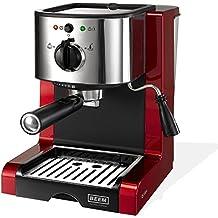 Beem 02051Espresso Perfect | Cafetera expreso para polvo & Pads (1350W, 15bar) | expreso, Capuchino, Latte macchiato, XXL de crema, Café lungo Brillant Rojo