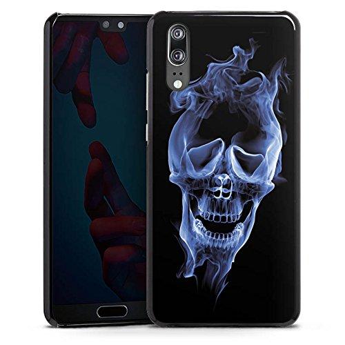 mpatibel mit Huawei P20 Handyhülle Case Halloween Skull Rauch ()