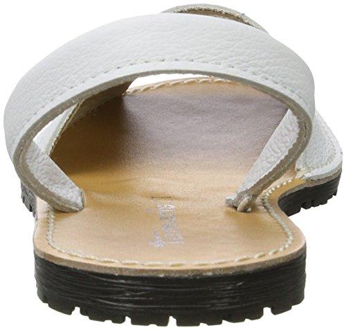 Tamaris Damen 28916 Offene Sandalen Weiß (WHITE LEATHER 117)