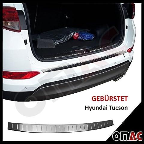 Hyundai Tucson (2015)–Protezione paraurti in acciaio inox spazzolato con smussatura