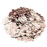 MagiDeal Rose Gold Hochzeit Rund Konfetti Kunststoff Tisch Dekor Handwerk - Roségold, 50g