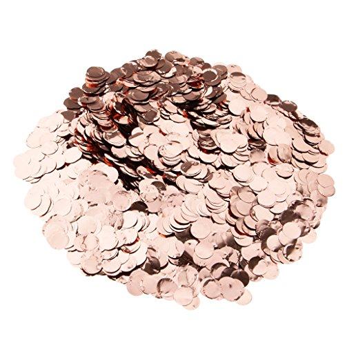 MagiDeal Rose Gold Hochzeit Rund Konfetti Kunststoff Tisch Dekor Handwerk - Roségold, 50g (Rose Confetti)