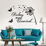 Détendez-vous et relâchez-vous Devis de la salle de bain Vinyle Sticker Décor À La Maison Art Mural Sticker Mural Amovible...