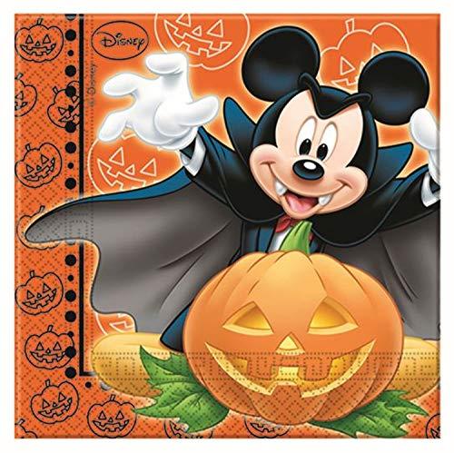 Disney Micky Maus Halloween Papier Servietten, 20Stück