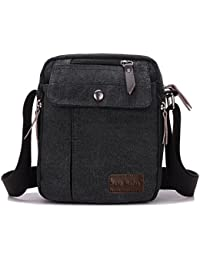 Super Modern™ Men Small Vintage Canvas Messenger Bag Cross body bag Pack Organizer Satchel Bag Durable Multi-pocket Sling Shoulder Bag