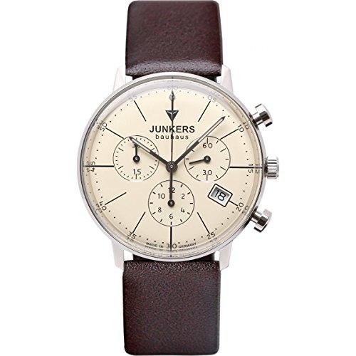 Junkers Damen Chronograph Quarz Uhr mit Leder Armband 60895