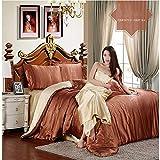 huanle Seiden-Seiden-Seidenbettwäsche Aus Seiden-Seide, Einteilig, Einfarbig, Doppelt Buchstabiert, Für 1,5 M / 1,8 M Bett Geeignet