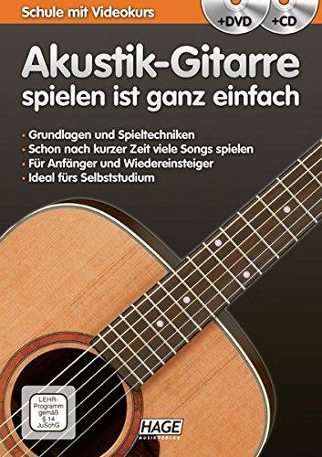 Akustik-Gitarre spielen ist ganz einfach + CD + DVD: Schule mit - Der Gesang-buch Mit Cd