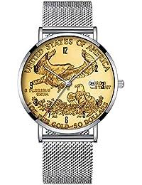 5699f604f6c9 Minimalista Moda Cuarzo Reloj de Pulsera Elite Ultra Delgado Impermeable  Reloj Deportivo con Fecha con Banda