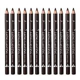 12pcs Wasserfest Augenbrauenstift Eyebrow Stift Makeup Tools, 3 Farbauswahl, Dunkelbraun