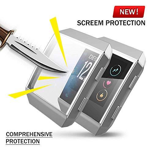Für Fitbit Ionic Hülle, KTcos TPU Schutzfolie Allround-Schutzhülle High Definition Clear Ultradünne Schutzhülle für Fitbit Ionic Smart Fitness Watch (Silber)