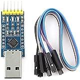 Adaptateur convertisseur - TOOGOO(R)CP2102 USB 2.0 au module UART TTL 6PIN convertisseur serie adaptateur bleu + argent