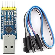Konverter-Adapter - TOOGOO(R)CP2102 USB 2.0 zu UART TTL 6PIN Modul-Seriell-Konverter-Adapter-Blau + Silber