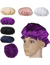 Gazechimp Femme Bonnet de Nuit Chapeau Souple en 100% Soie Soin de Cheveux Coiffure