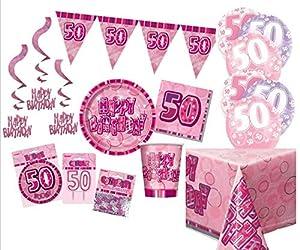 Unique Party Party Kit Color rosa 63759