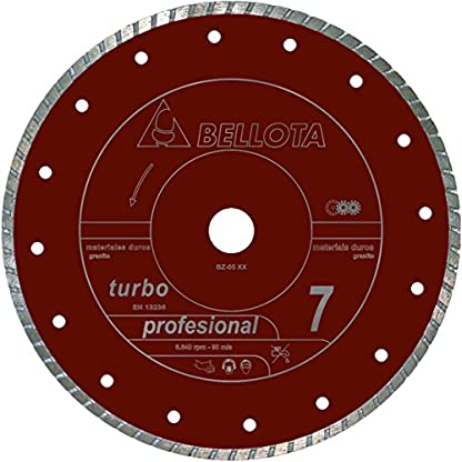 Bellota 50705-115 DISCO DIAMANTE CORTE SECO MATERIALES DUROS PROFESIONAL 7 TURBO 115MM
