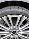 Jackplott Focus RS MK3 Gel-Embleme Inlays Felgen Logos (Gelb)