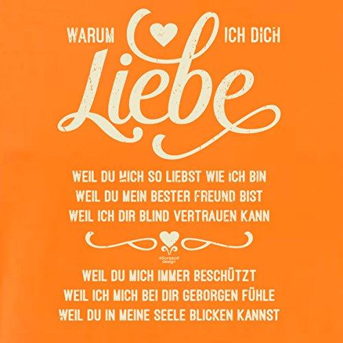 Modisches Oster-Geschenk / T-Shirt für Männer mit Print Aufdruck: Warum ich Dich liebe Farbe: orange Orange