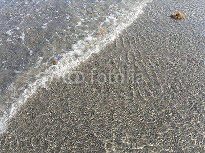 adrium Holz-Bild 70 x 50 cm:inviting clear ocean in Boca Raton, Florida, Bild auf Holz