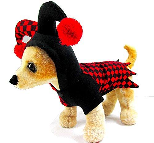 Moolecole Lustige Haustier-Kleidung Clown-Art-Haustier-Kostüm-Klage für Katzen-Hund