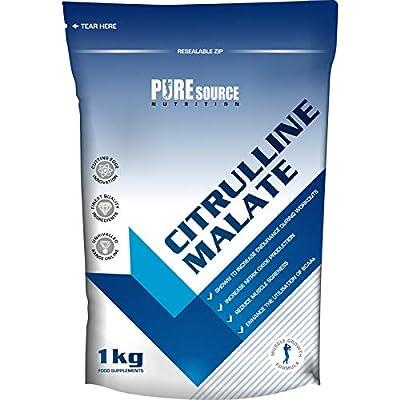 Pure Source Nutrition 100% Pure Citrulline Malate Powder 2:1 Ratio 1kg / 1000g Unflavoured Vegan Pump | Nitric Oxide by Pure Source Nutrition