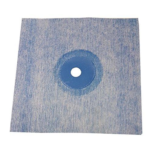 10 Stück doitBau Sanitär Wandmanschette TPE blau 120x120mm Abdichtung für Fliesen für Bad Dusche Küche Badabdichtung Duschabdichtung -