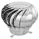 PrimeMatik - Schornsteinabdeckung rotierend Kaminhaube schützt vor Wind für 250 mm Rohre
