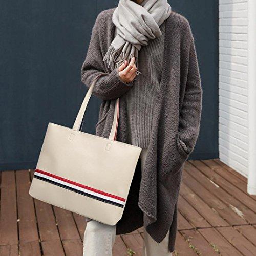 Damen Handtaschen, Huhu833 2pcs Mode Frauen Umhängetasche Handtasche Schultertasche Umhängetasche Totes Weiß