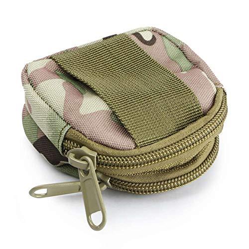 Münzen-beutel-tasche (Mini-Tasche wasserdichte bewegliche 2-Lagen-Münzen-Mappen-Reißverschluss-Beutel-Beutel-CP)
