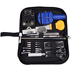 Sumnacon® Professional Watch Repair Tool Kit Case with Free Hammer and Watch Strap Spring Pins