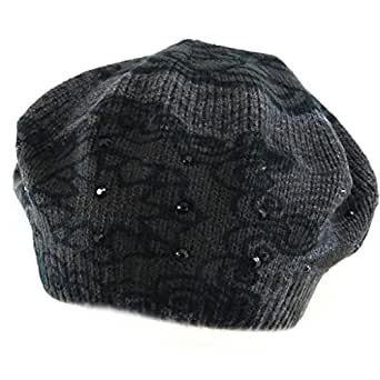 Desigual [L6918] - Beret baroque 'Desigual' gris noir