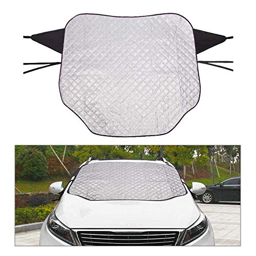 """Preisvergleich Produktbild Ting-Times Protector Car Windshield Snow & Ice Cover, Magnetic Frost Wiper Visor Protector, All Weather Winter Summer Auto Sun Shade for Cars Trucks Vans and SUVs - Silver (57"""" X 48.50"""")"""