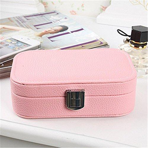 Meydlee Kleine tragbare Reise-Schmuck-Box, Geschenk für Hochzeit & Party Teilnehmer mit Safe Lock, 2er-Pack , g (Asos-tier)