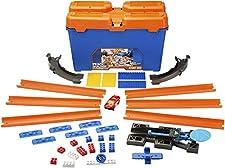 Hot Wheels Track Builder Set delle Acrobazie Playset per Creare Combinazioni Infinite e Ampliare Le Piste, Include Una Macchinina, DWW95