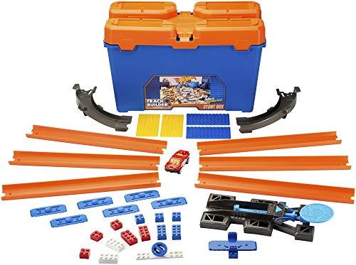 Hot Wheels- Track Builder Set delle Acrobazie Playset per Creare Combinazioni Infinite e Ampliare Le Piste, Include Una Macchinina, DWW95