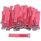 Pasow Bridas con hebilla de plástico ajustable, correas para recoger cables, 20,3 cm