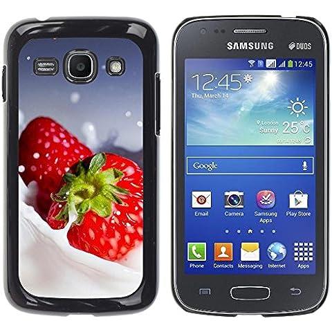 TORNADOCOVER Unico Immagine Rigida Custodia Case Cover Protezione Per SMARTPHONE Samsung Galaxy Ace 3 GT-S7270 GT-S7275 GT-S7272 - macro frutta cremoso fragole - Cremoso Fragola
