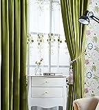 Samtvorhänge matt Samtvorhänge hotel, nicht die einfachen, farbigen Vorhängen, 1 PC (W400*L 200 CM), grün
