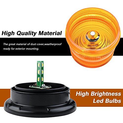 Led stroboscope, Appow Ambre d'Urgence magnétique clignotant Avertisseur lumineux pour camion véhicule avec 12V Prise allume-cigare (30LED)