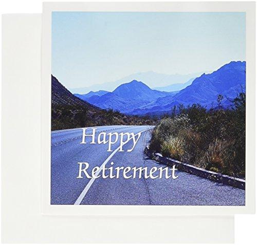 3drose Print of Bild von Mountain Straßen mit Happy Retirement–Grußkarten, 15,2x 15,2cm, Set 12(GC 182469_ 2)