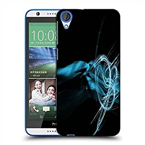 Snoogg Blue Smoke Designer Protective Phone Back Case Cover For HTC Desire 820