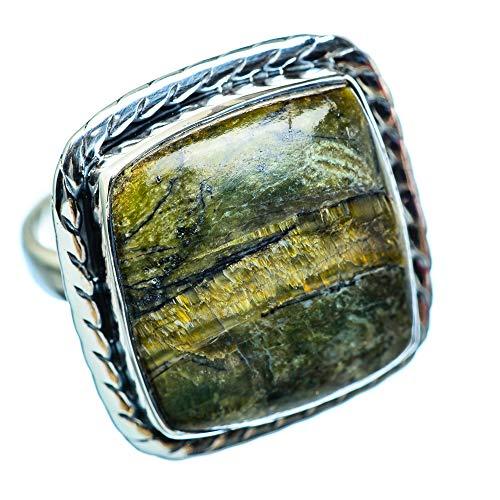 African Green Opal, Afrikanischer Grüner Opal 925 Sterling Silber Ring 9.75 (Ana Silver Co Ringe Grün)