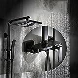 Cqq Duschset Schwarzer Dusche-Gerät-führendes unter Druck gesetztes Badezimmer-Kupfer-Nachahmungsaltduschensatz des Fasses nehmen eine europäische Art der Duschvorrichtung