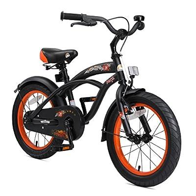 BIKESTAR Kinderfahrrad für Jungen ab 4-5 Jahre | 16 Zoll Kinderrad Cruiser | Fahrrad für Kinder
