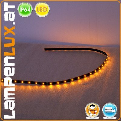 LED Banda Tira Gonzo coche Auto 12V Tira Flexible ámbar 1W extensivas 1W 90cm ampliable