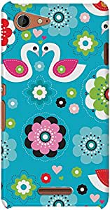 DailyObjects Flower Swan Case For Sony Xperia E3