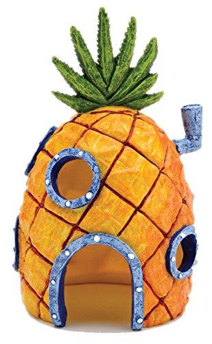 Kelaina 1pc creative ananas a forma di casa ornamento acquario (13*7cm)