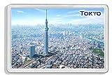 AWS. Imán de PVC rígido de Tokio, Japón, ideal como regalo para el frigorífico. Con imagen de la metrópolis