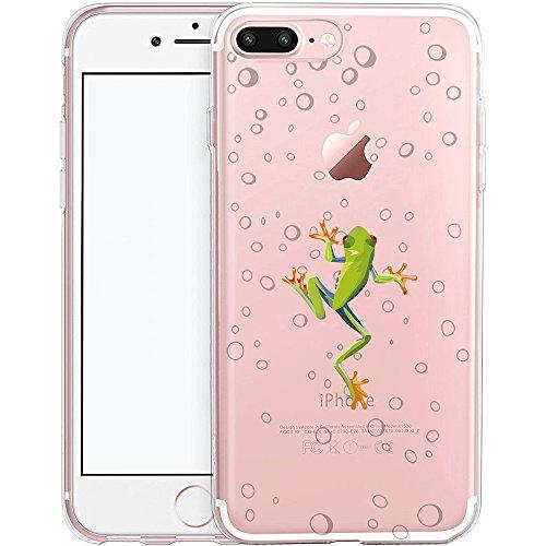 Coque iPhone 7, TrendyBox PC Hard Cover avec soft TPU Pare-chocs pour iPhone 7 (Fleur de Cerisier et Lapins) Grenouille